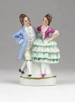 0X493 Antik WAGNER und APEL porcelán barokk pár