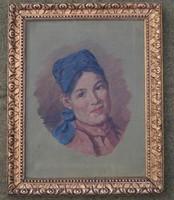 Női arckép festmény Kossuth P