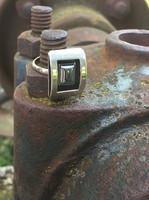 Gyönyörű ezüst gyűrű!! hematittal!