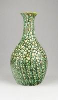 0X491 M. Kiss Katalin zöld kerámia váza 18.5 cm