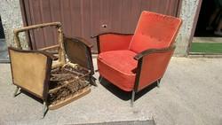 Mid-Century fotel párban