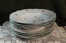 Antik Zsolnay tányérok mély 3 db  sekély 4 db