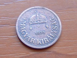MAGYAR KIRÁLYSÁG 2 FILLÉR 1934 BP.