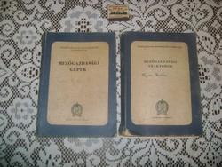 Mezőgazdasági gépek 1952, Mezőgazdasági traktorok 1953 - két darab könyv eladó