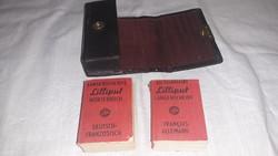 Lilliput szótár, 2 db bőr tokban