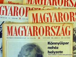 1988 július 15  /  MAGYARORSZÁG  /  SZÜLETÉSNAPRA RÉGI EREDETI ÚJSÁG Szs.:  5797