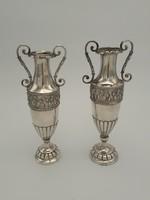 Pazar ezüst puttós vázák párban 389 g