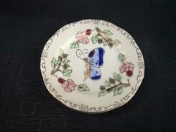 Zsolnay pillangós mini tányér, hibátlan