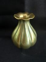 Zsolnay eozin bordázott kicsi váza, hibátlan állapotú