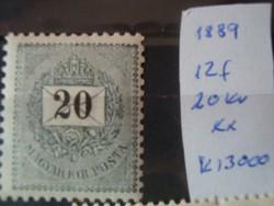1889 20 kr** kat 3eFt