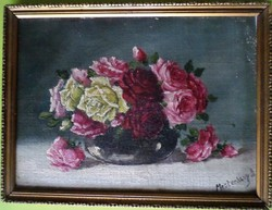   Mesterházy Dénes: Csendélet rózsákkal