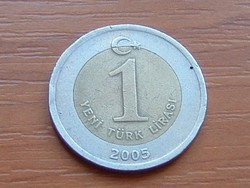 TÖRÖK 1 LÍRA 2005 BIMETÁL