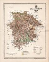Gömör vármegye térkép 1894 (5), lexikon melléklet, Gönczy Pál, 23 x 29 cm, megye, Posner Károly