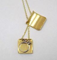 Arany lánc medállal (ZAL-Au80627)