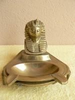 Réz egyiptomi dísztárgy, hamutartó