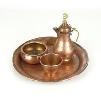 0X612 Vörösréz török muszlim SARAJEVO teáskészlet