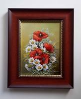 Pankotai Alexandra -Virágcsendélet - olajfestmény - ajándék kerettel