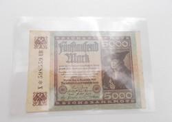 5000 német márka 1922