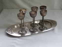 Nagyon szép antik ezüstözött argentor ital kínáló.