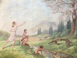 Festmény francia festő