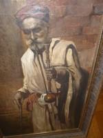 AL Mayer,Cairo szignóval:olaj/vászon
