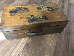 Katona láda- Fa koffer