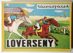 Régi Lóverseny társasjáték játék 1978 Szarvas