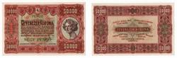 1923 50 000 korona 4 pengő EF.