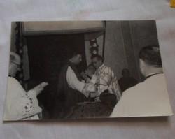 Régi egyházi fotó, Baja - 1. (papok, szentmise)
