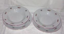Pajzspecétes 2-2 db mély és lapos tányér