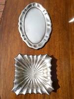 2 db ezüst tálca
