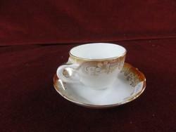 Német Bavaria porcelán, kávéscsésze + alátét. Antik. 1918-1935 közötti.