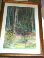 Erdőben akvarell