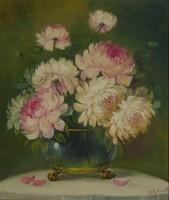 Mesterházy Dénes: Virágcsendélet