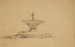 St. Veit 58 /1858 / ceruza rajz szépen keretezve