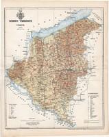 Somogy vármegye térkép 1897 (2), lexikon melléklet, Gönczy Pál, 23 x 29 cm, megye, Posner Károly