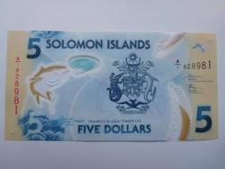 Salamon szigetek 5 dollár 2019 UNC