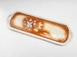 Óriási Gránit Kispest kínűló tálca - 42,5 cm! - bejglis, desszertes tál, nagyméretű tálaló