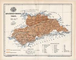 Kis Küküllő vármegye térkép 1894 (1), lexikon melléklet, Gönczy Pál, 23 x 30 cm, megye, Posner K.