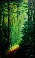 Kosztolányi Mária, Az én erdőm, olajfestmény, 90x60