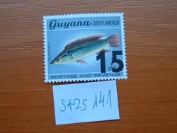 GUYANA 15 / 1 C 1981 Crenicichla alta bélyegek felülnyomott S+ZS141