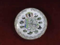 Schedel német Bavaria  porcelán dísztányér. Berlin címerével és nevezetességeivel.