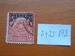 CHILE 5 C 1904 Crest Correos tetején S+ZS172
