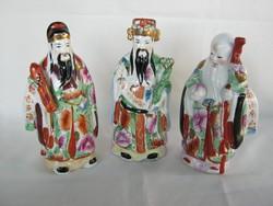 Három keleti bölcs nagyobb méretű porcelán figura