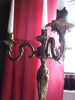 4 ágú barokk bronz gyertyatartó