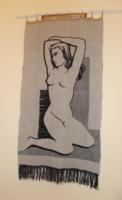 Falikárpit , falidísz , textilkép 108x58  cm
