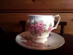 Angol rózsás kávés csésze Queen's