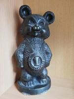Misa Maci retro fém szobor bajnok Misa Mackó