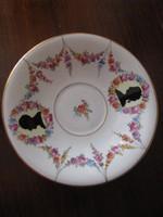 Meisseni árnyképes porcelán tányér