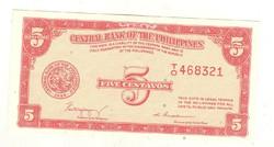 5 centavo 1949 Fülöp-szigetek UNC